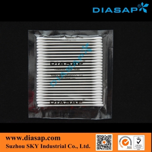 Round Tip Cotton Swab for Electronic Components Cleaning
